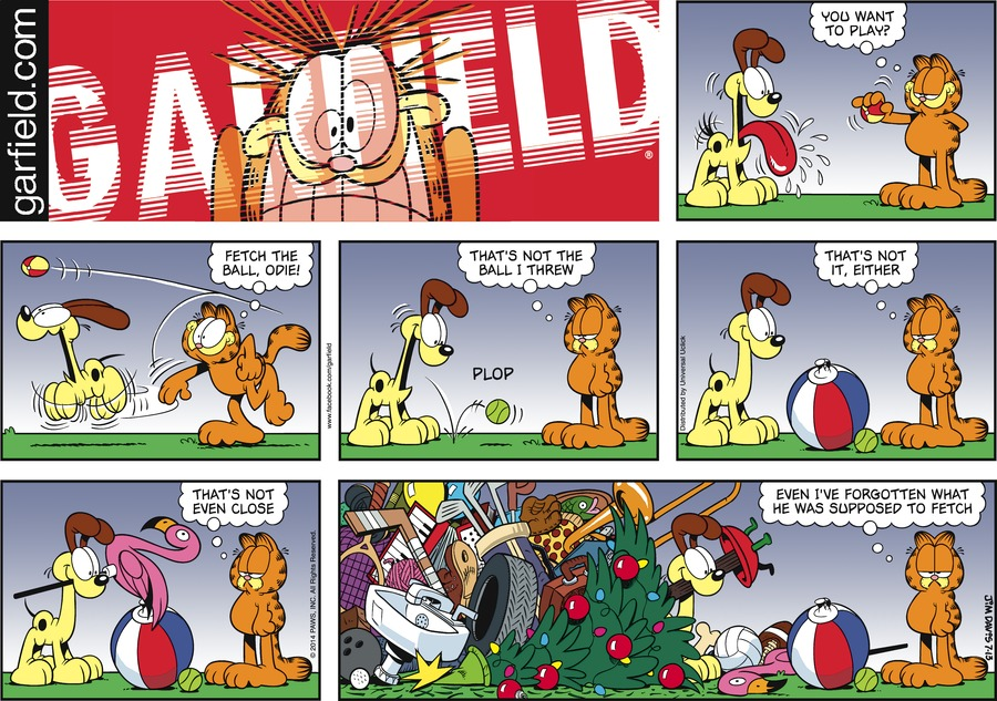 Английский по комиксам  Гарфилд