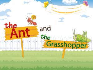 The Ant and the Grasshopper сказка на английском