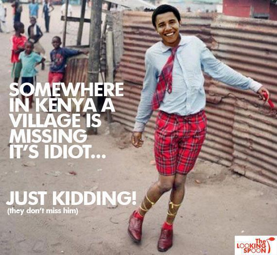 barack obama kenya idiot
