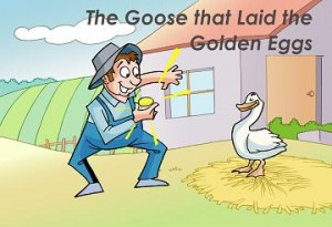 The goose that laid golden eggs сказка