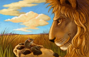 lion and mouse сказка с переводом