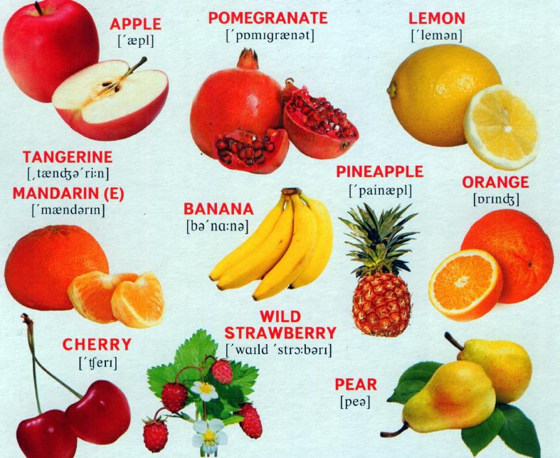 English Fruits and Berries