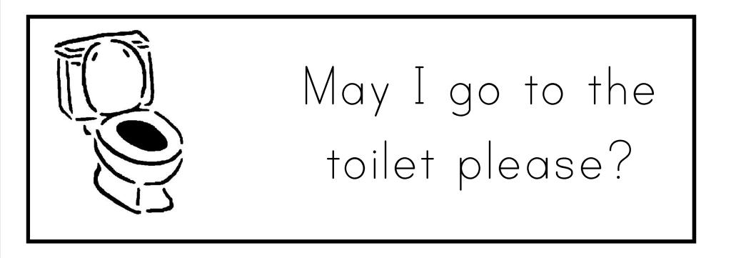 """""""Можно в туалет?"""" по-английски"""