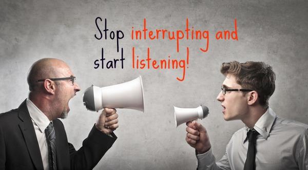Stop interrupting
