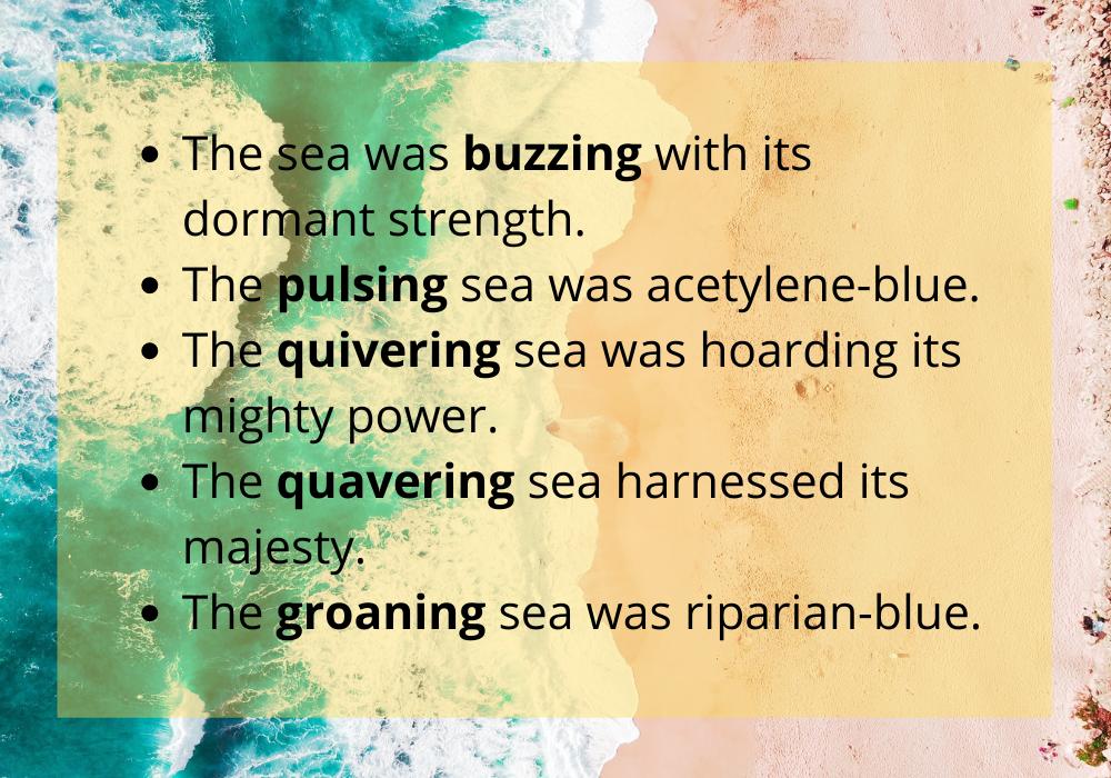 описание моря на английском