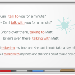 Употребление выражений «talk to», «talk with», «talk about», «talk over», «talk through»