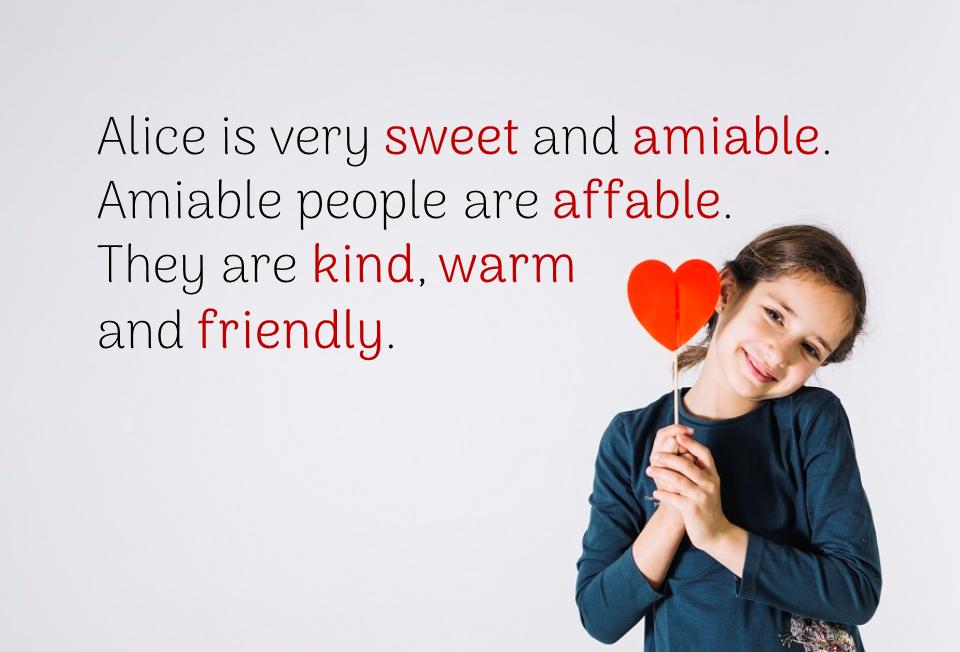 Описание милого и дружелюбного человека на английском