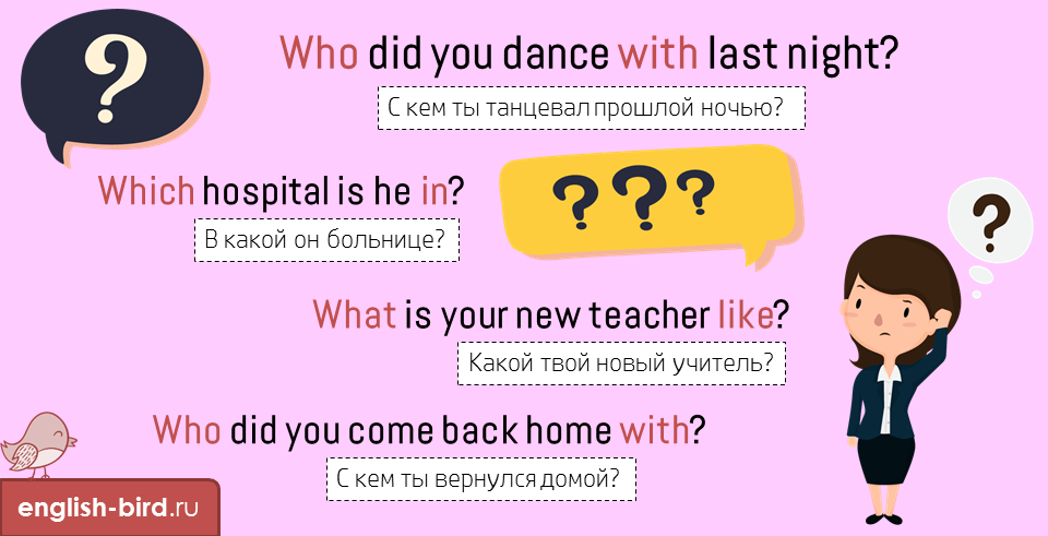 Примеры вопросов с вопросительными словами на английском
